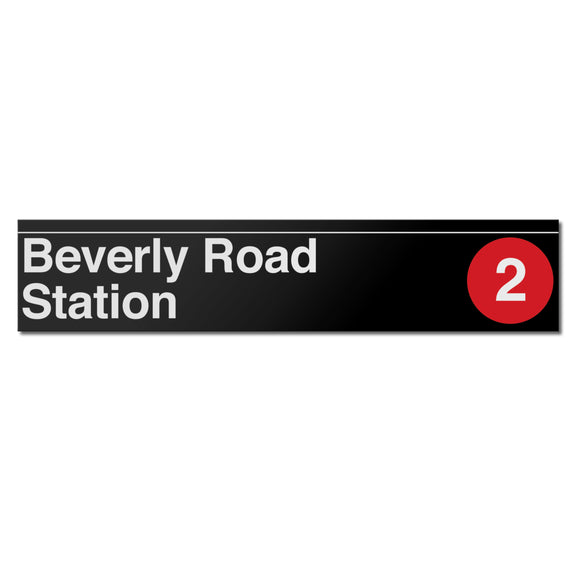 Beverly Road (2 5) Sign