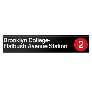 Brooklyn College / Flatbush Avenue Sign