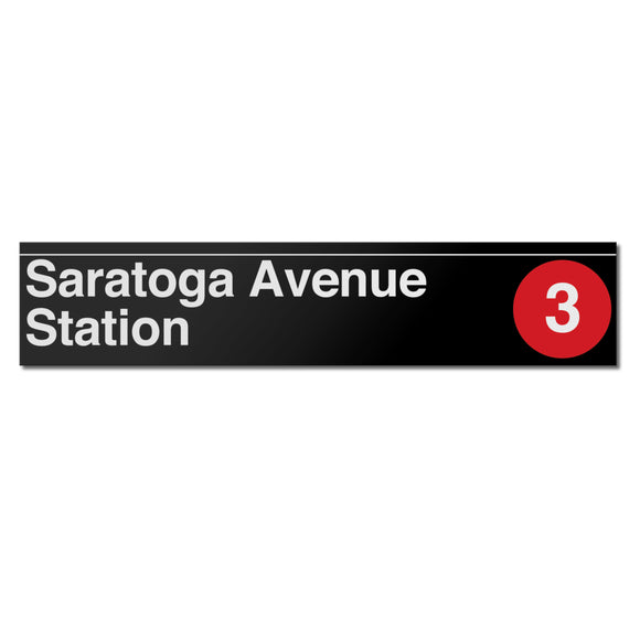 Saratoga Avenue Sign
