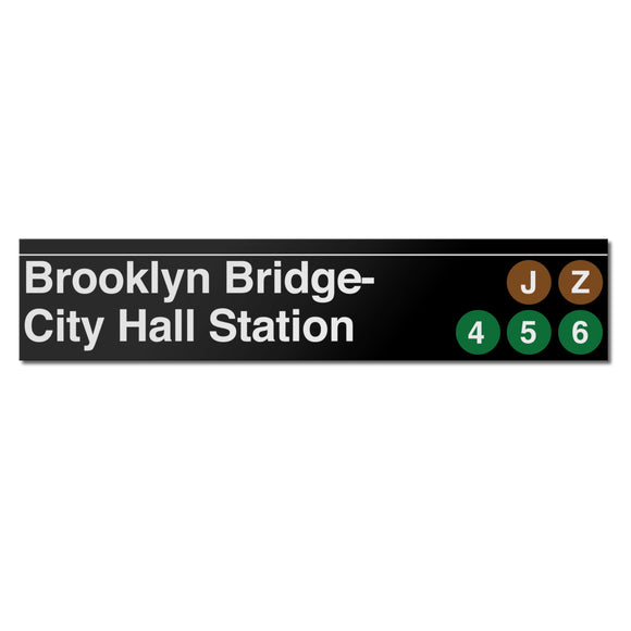 Brooklyn Bridge / City Hall Sign