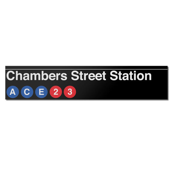 Chambers Street (A C E 2 3) Sign