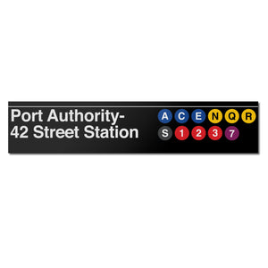42 Street / Port Authority Bus Terminal Sign