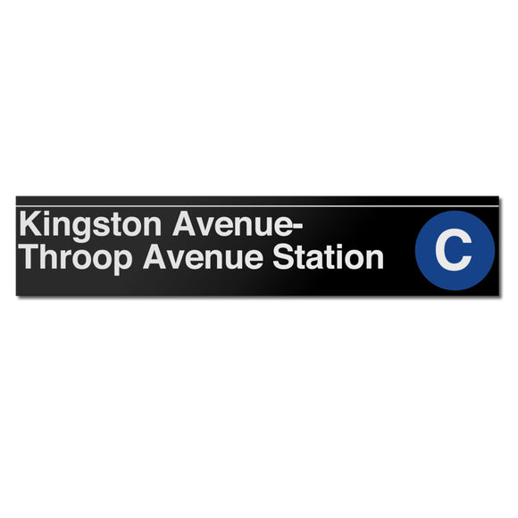 Kingston / Throop Avenues Sign