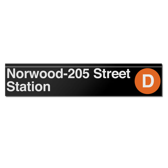 Norwood / 205 Street Sign