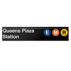 Queens Plaza (E M R) Sign