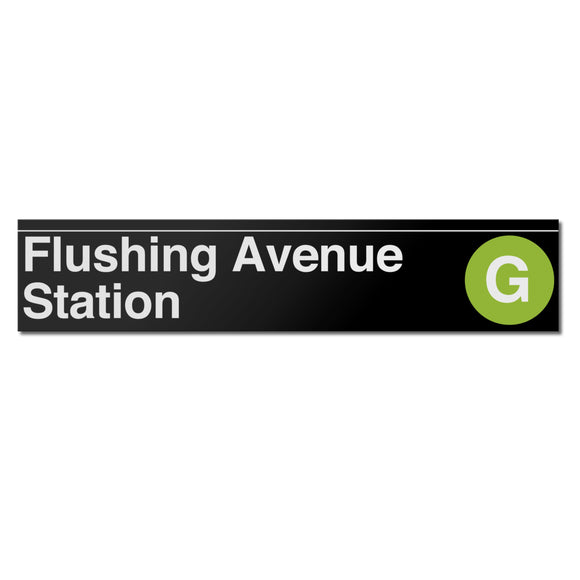Flushing Avenue (G) Sign