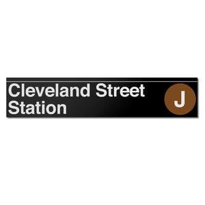 Cleveland Street Sign