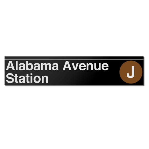 Alabama Avenue Sign