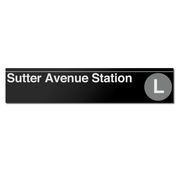 Sutter Avenue Sign
