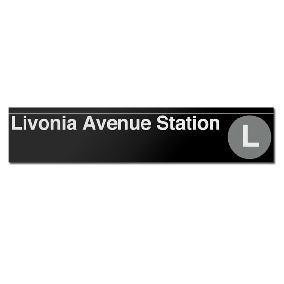 Livonia Avenue Sign