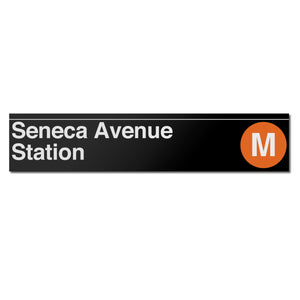 Seneca Avenue Sign
