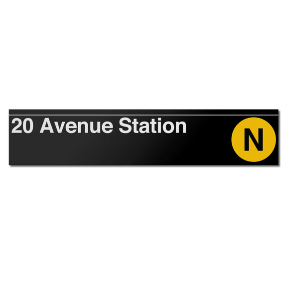 20 Avenue (N) Sign