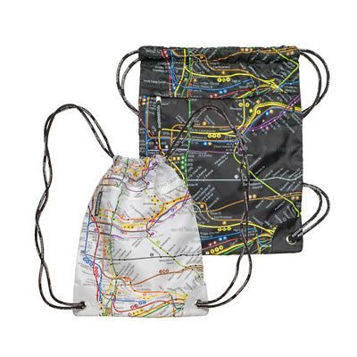 Subway Map Drawstring Backpack