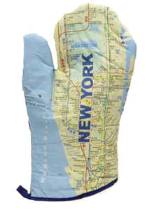 Subway Map Oven Mitt