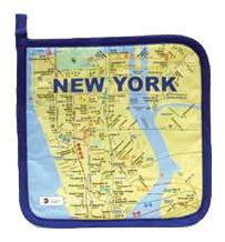 Subway Map Pot Holder