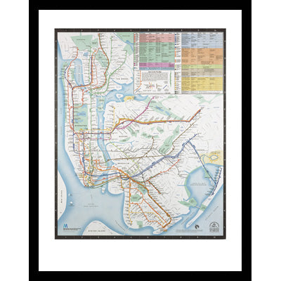 New York City Subway Map Brochure.New York City Transit Gifts Transitgifts Com