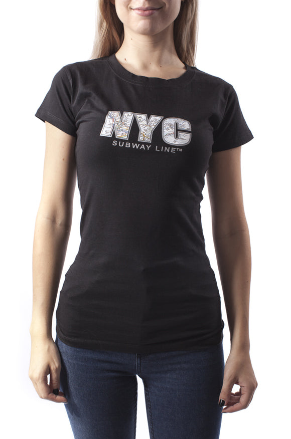 NYC (Rhinestones) Junior T-Shirt
