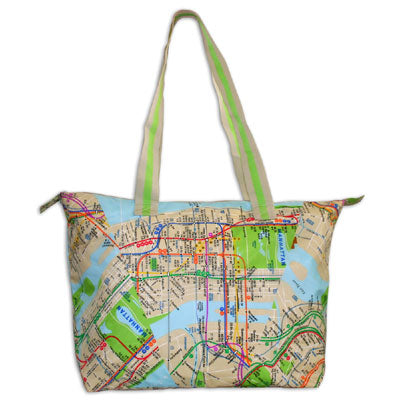 Subway Map Tote Bag