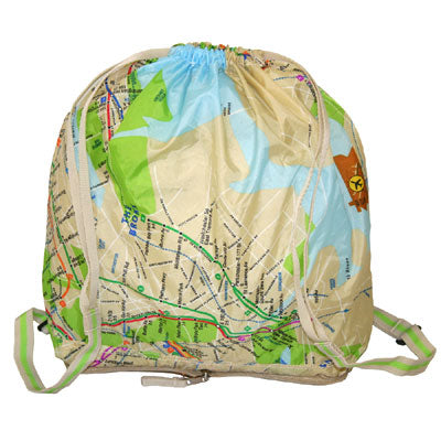 Subway Map Folding Backpack