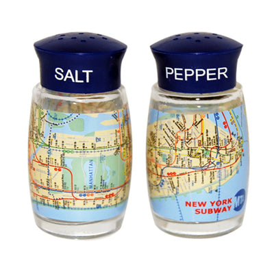 Subway Map Salt & Pepper Shakers