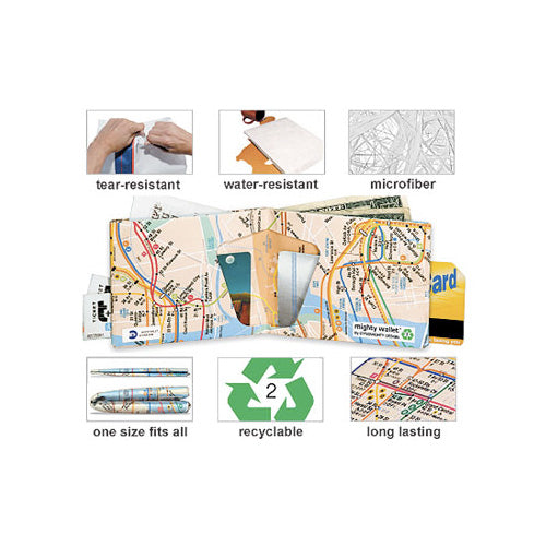 Subway Map Paper Products.New York Subway Map Mighty Wallet