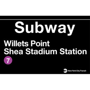 Subway Shea Stadium Metal Sign