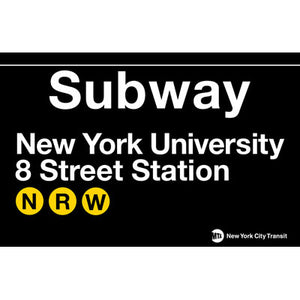 Subway NYU Metal Sign