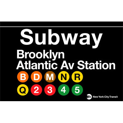Subway Brooklyn/Atlantic Ave Metal Sign
