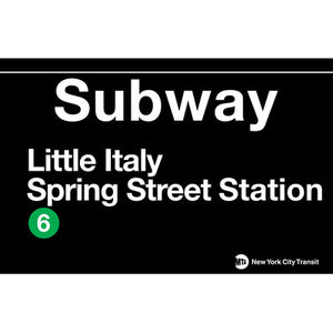 Subway Little Italy Metal Sign