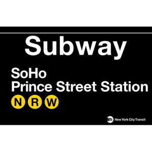 Subway Soho Metal Sign