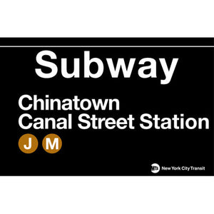 Subway Chinatown Metal Sign