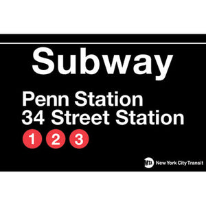 Penn Station Subway Magnet