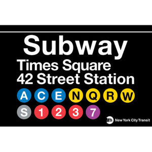 Times Square Subway Magnet