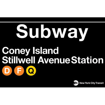 Coney Island Subway Magnet