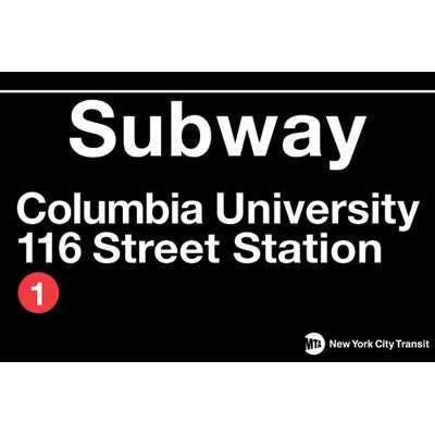 Columbia University Subway Magnet