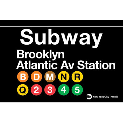 Brooklyn/Atlantic Ave Subway Magnet