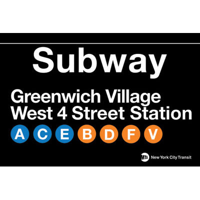 Greenwich Village Subway Magnet