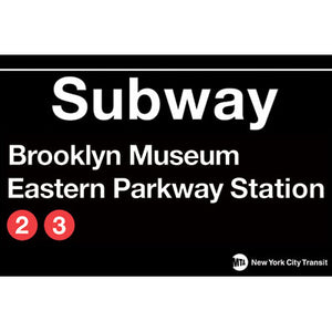 Brooklyn Museum Eastern Parkway Station Subway Magnet
