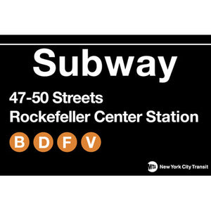 Subway Map To Rockefeller.Rockefeller Center Subway Magnet