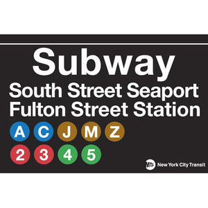 South Street Seaport Subway Magnet