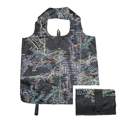 Subway Map Shopper Tote