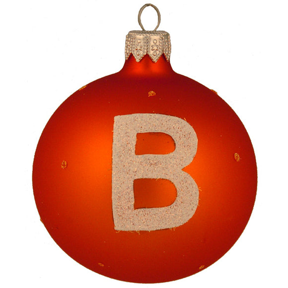 Subway Symbol B (Orange) Ornament