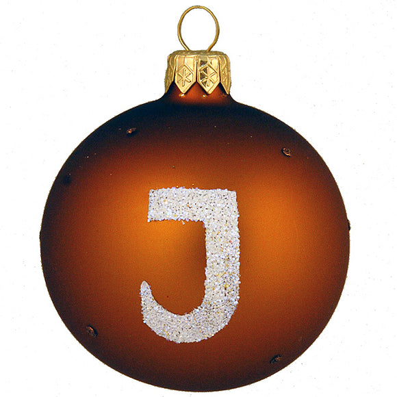 Subway Symbol J (Brown) Ornament