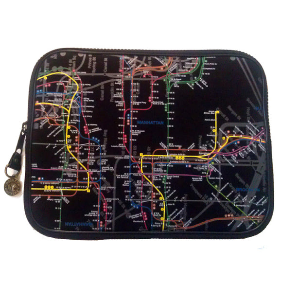 New York City Subway Map Laptop Case (13