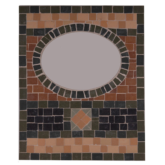 Oval Mirror (9 x 10) Mosaic Tile