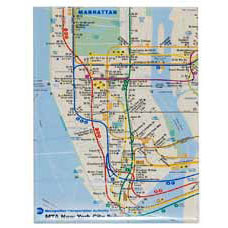 Subway Map Magnet