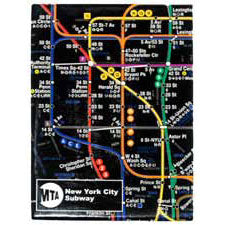 Subway Map - Black Magnet