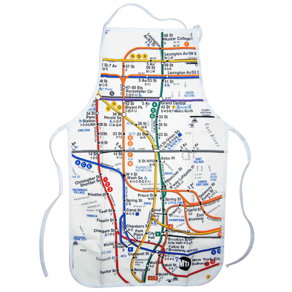 Subway Map - White Apron