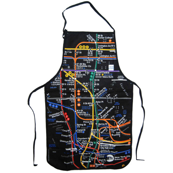 Subway Map - Black Apron