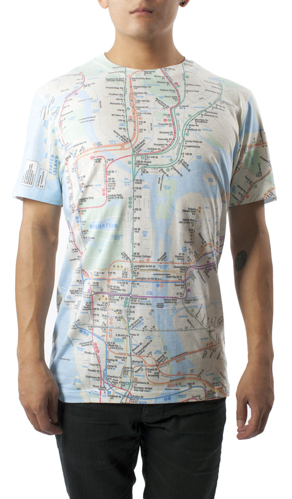 Subway Map Blue T-Shirt